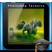 آموزش ساخت فیل پرنده توسط نرم افزار فتوشاپ