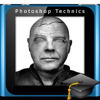 آموزش ساخت مجسمه سنگی از چهره توسط فتوشاپ