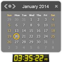 یک ساعت زنگدار با اسکینهای مختلف و قابلیت برنامه ریزی برای یادآوری قرارهای مهم