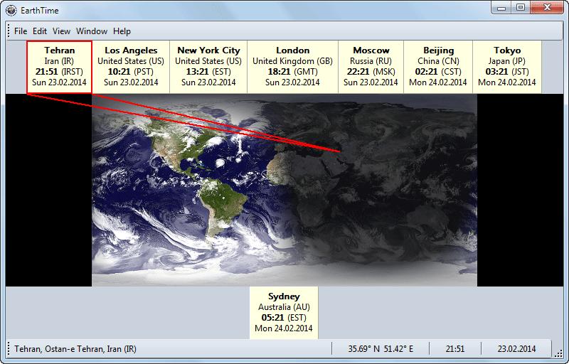 دانلود نرم افزار EarthTime