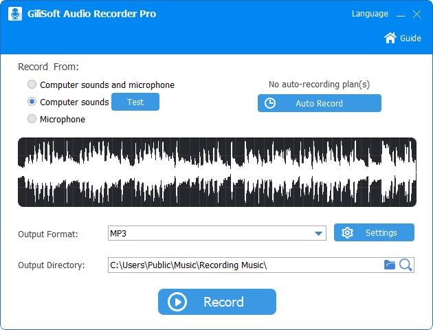 دانلود نرم افزار GiliSoft Audio Recorder Pro