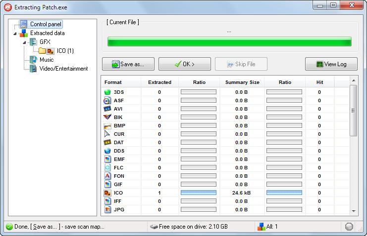 پنجره استخراج اطلاعات
