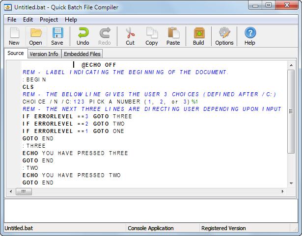 دانلود نرم افزار Quick Batch File Compiler