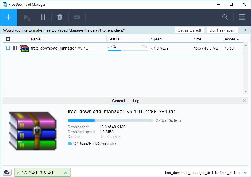 دانلود نرم افزار Free Download Manager