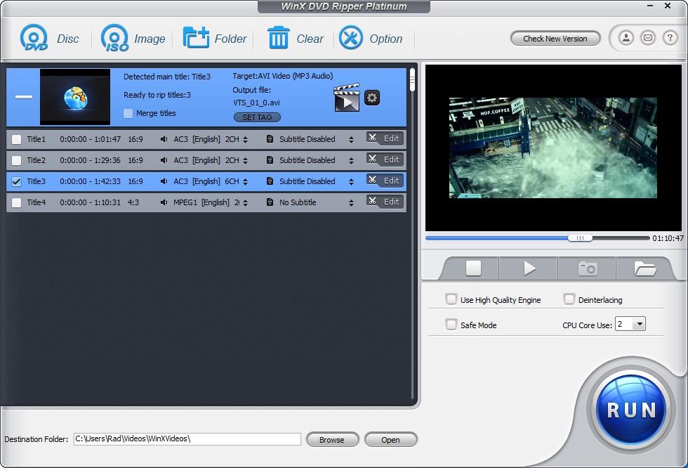 دانلود نرم افزار WinX DVD Ripper Platinum