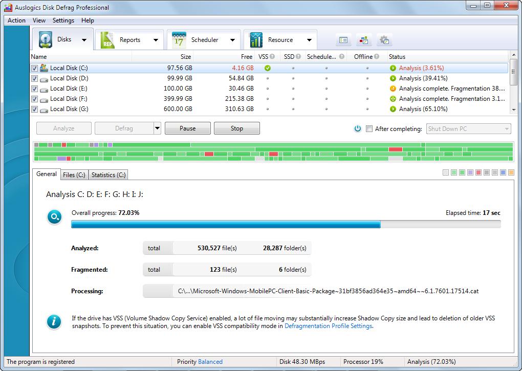 دانلود نرم افزار Auslogics Disk Defrag