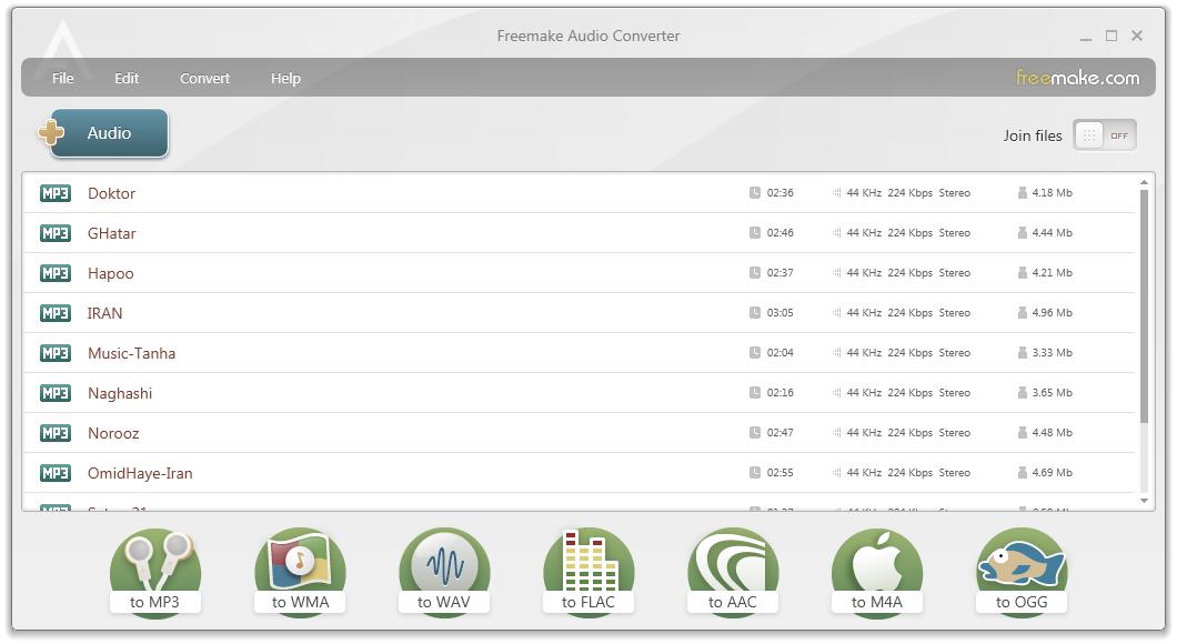 دانلود نرم افزار Freemake Audio Converter