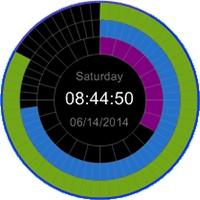 یک ساعت دیجیتالی زیبا و مدرن