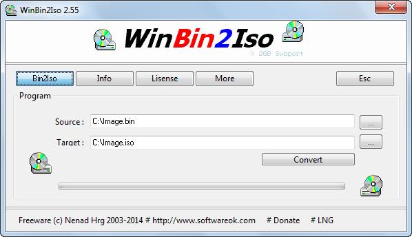 دانلود نرم افزار WinBin2Iso
