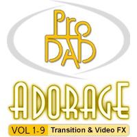 مجموعه کامل افکتها و ترانزیشنهای نرم افزار Adorage از بسته 1 تا 9