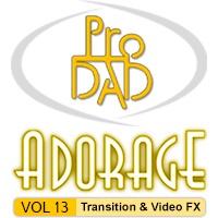 بسته ۱۳ از مجموعه افکتها و ترانزیشنهای نرم افزار Adorage
