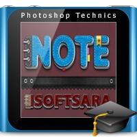 آموزش ساخت افکت متنی دفترچه یادداشت و جزوه