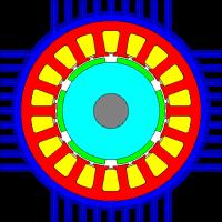 بررسی عملکرد الکترومغناطیسی موتور و ژنراتور و بهینهسازی خنککننده آنها