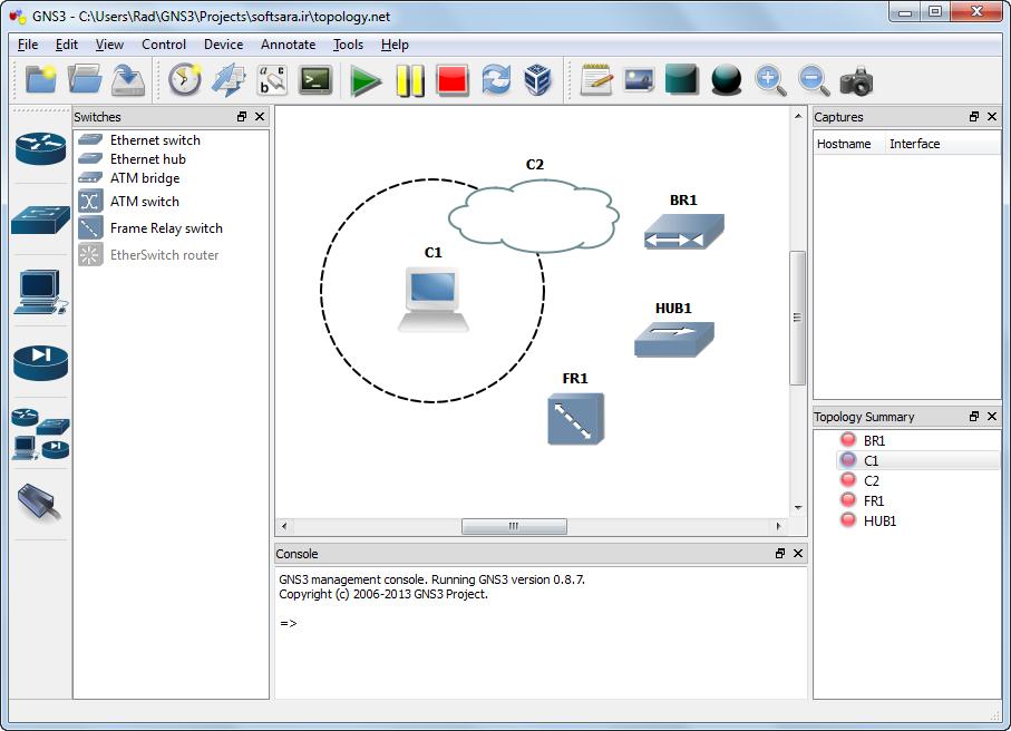 دانلود نرم افزار GNS3