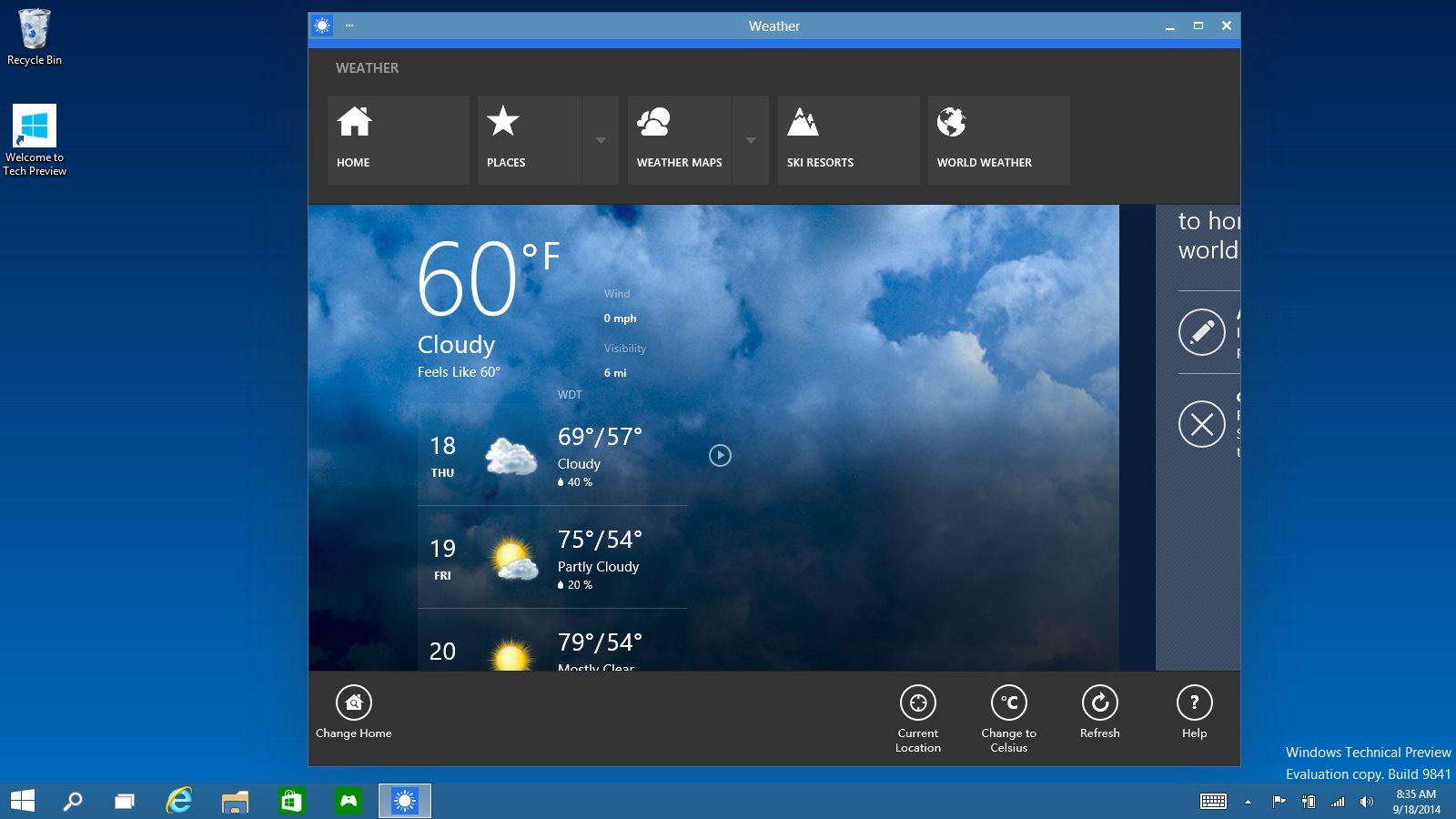 پنجره ها در ویندوز 10
