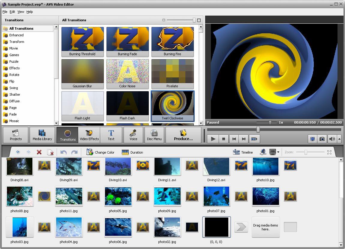 دانلود نرم افزار AVS Video Editor
