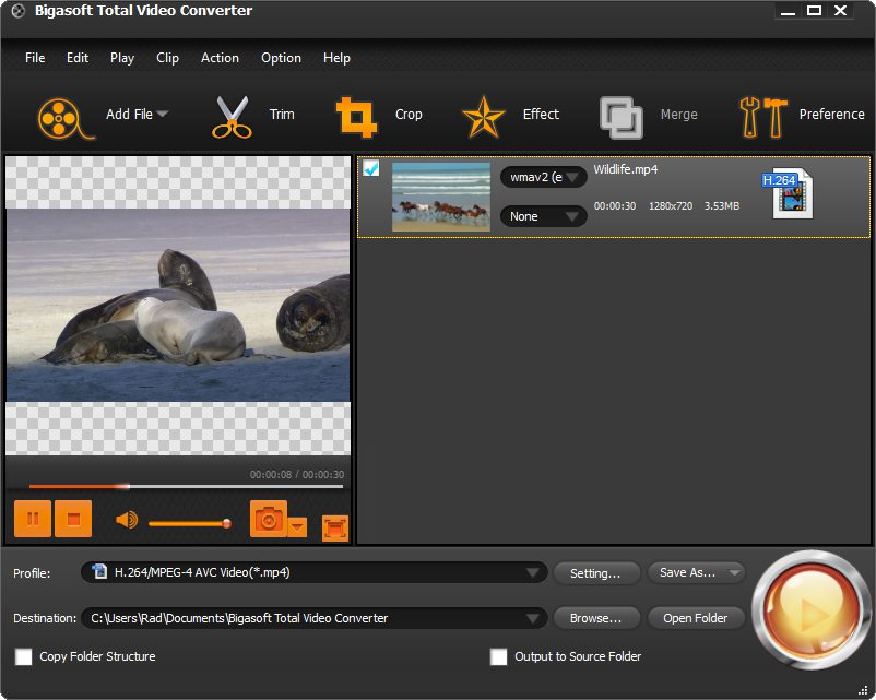 دانلود نرم افزار Bigasoft Total Video Converter