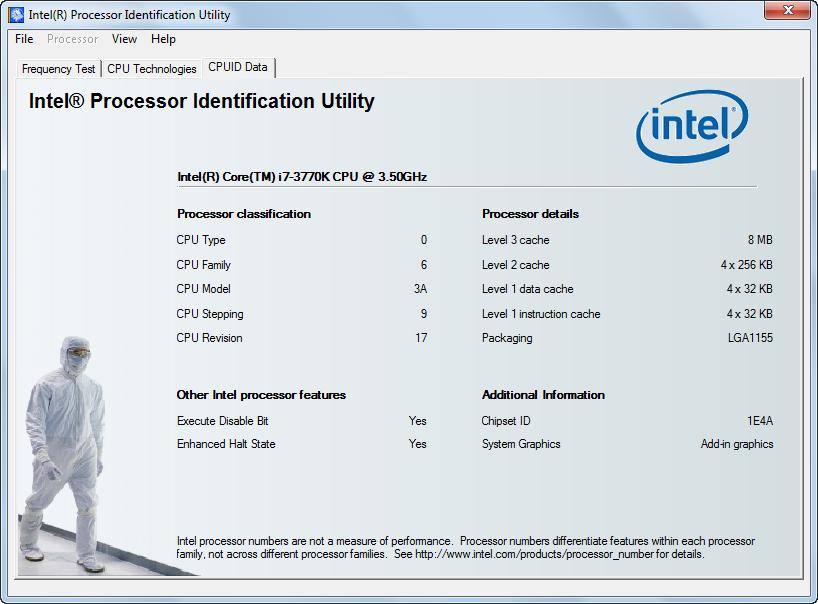 دانلود نرم افزار Intel Processor Identification Utility