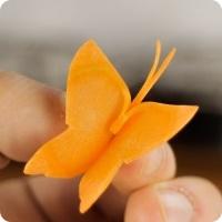 ساخت هویجهای پروانهای (سفرهآرایی)