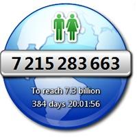 نمایش زنده جمعیت جهان