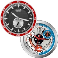 یک ساعت دیواری مدرن با امکان نمایش زمان ناحیه جغرافیایی مورد نظر