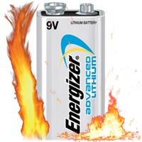 ساخت آتش توسط یک باتری 9V