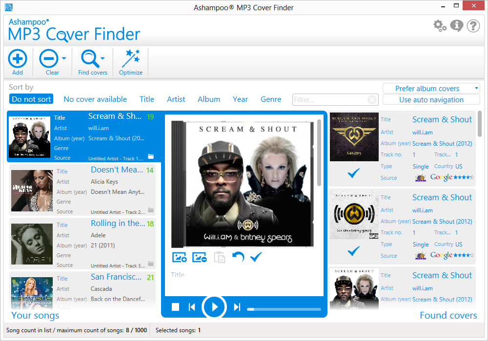 دانلود نرم افزار Ashampoo MP3 Cover Finder