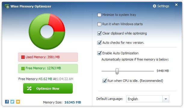 دانلود نرم افزار Wise Memory Optimizer