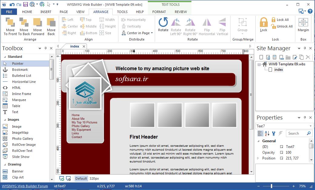 دانلود نرم افزار WYSIWYG Web Builder