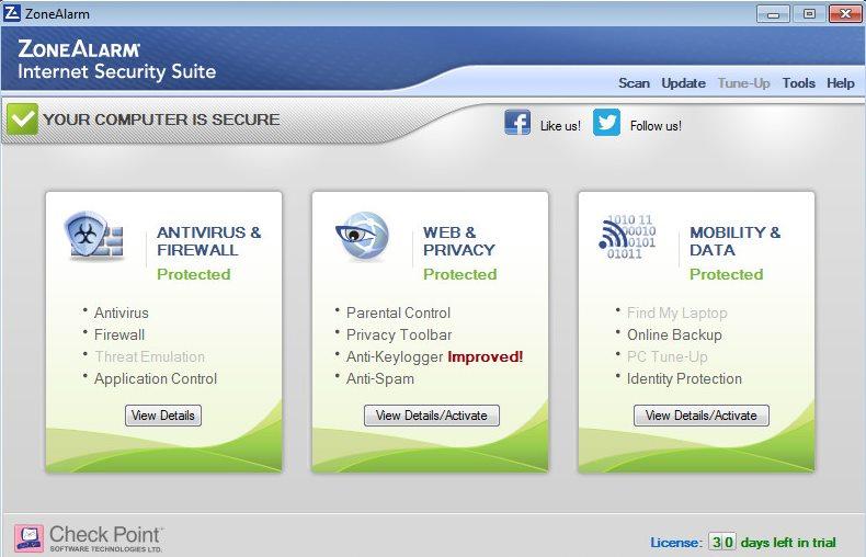 دانلود نرم افزار ZoneAlarm Internet Security