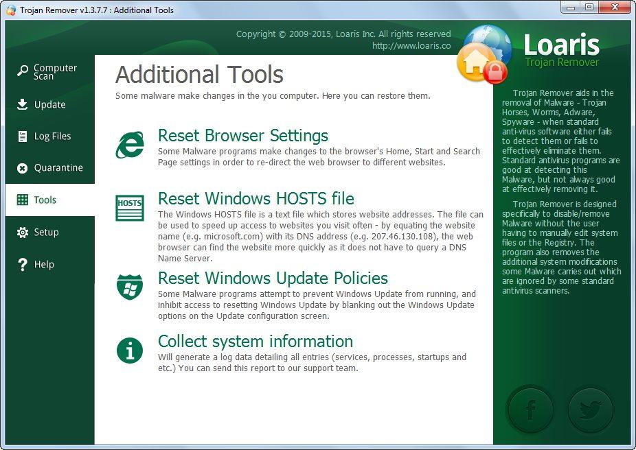 دانلود نرم افزار Loaris Trojan Remover