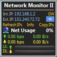 گجت نمایش لحظهای اطلاعات اینترنت و شبکه