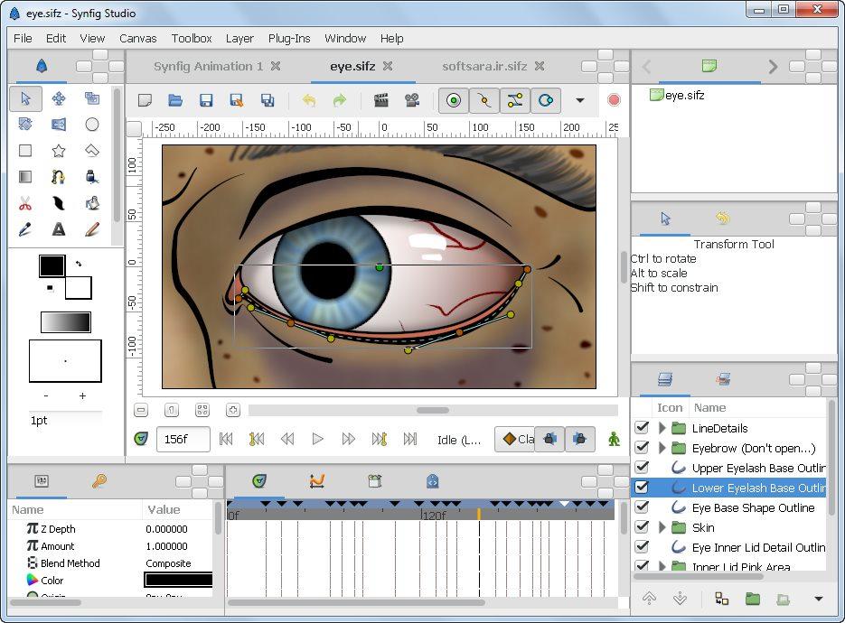دانلود نرم افزار synfig studio برای کامپیوتر
