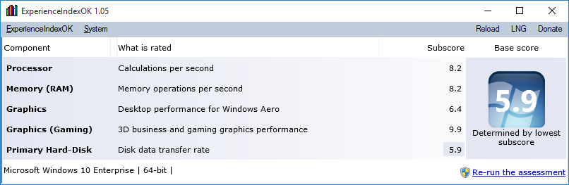 دانلود نرم افزار Experience Index OK
