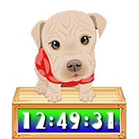نمایش ساعت بر روی میزکار به همراه توله سگهای ناز و بامزه