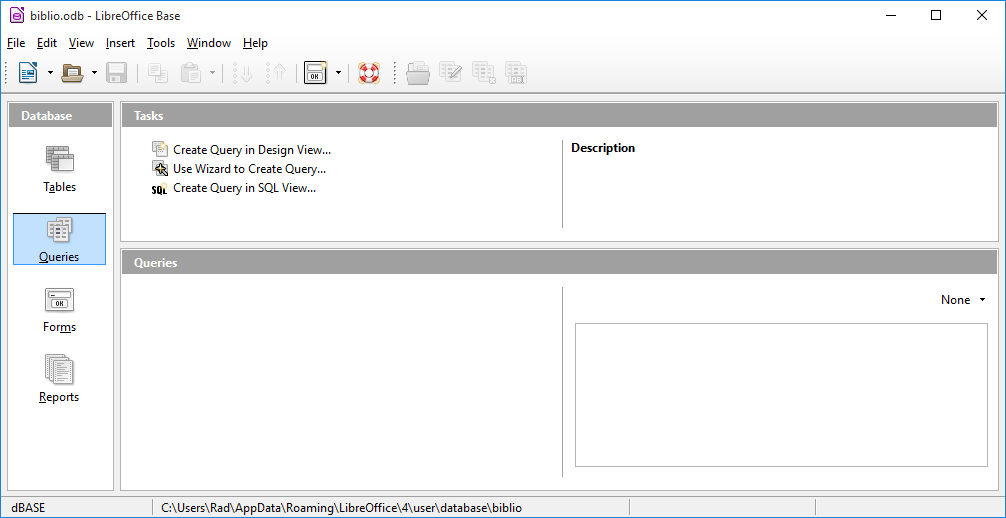 LibreOffice Base معادل نرم افزار Access