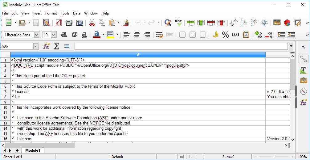 LibreOffice Calc معادل نرم افزار Excel