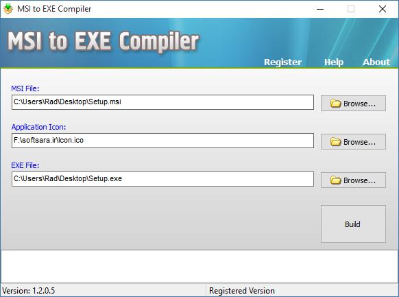 نرم افزار MSI to EXE Compiler