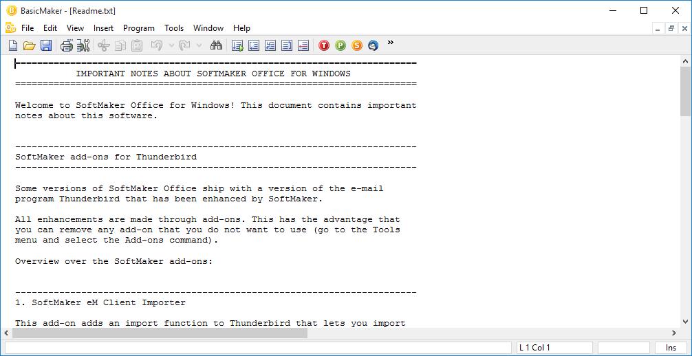 دانلود SoftMaker Office - نرم افزار BasicMaker