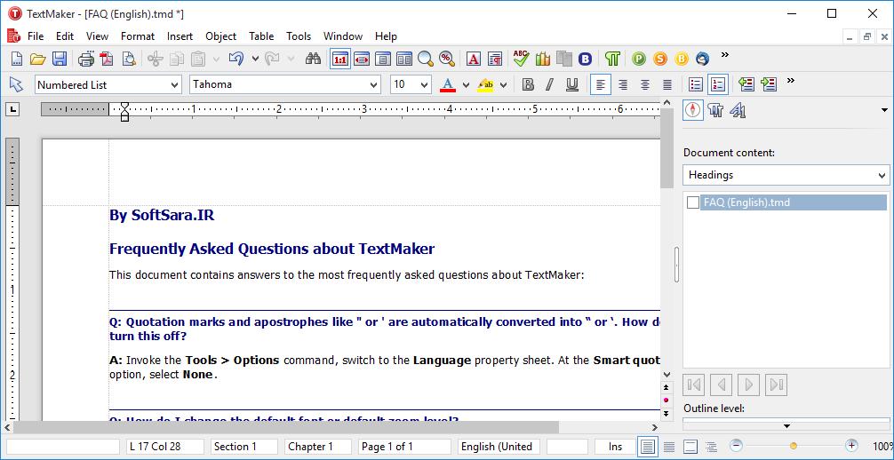 دانلود SoftMaker Office - نرم افزار TextMaker