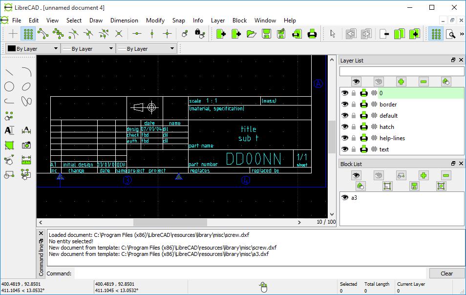 دانلود نرم افزار LibreCAD