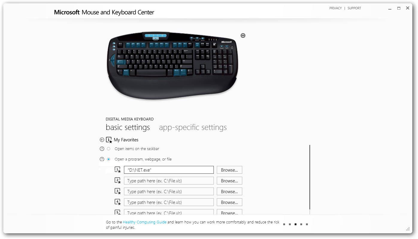 دانلود نرم افزار Microsoft Mouse and Keyboard Center