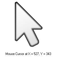 نمایش موقعیت ماوس بر روی صفحه نمایش