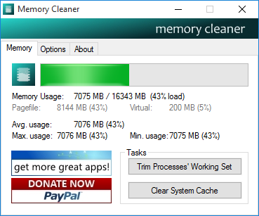دانلود نرم افزار Memory Cleaner