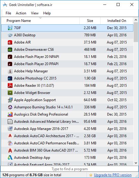 دانلود نرم افزار Geek Uninstaller Pro
