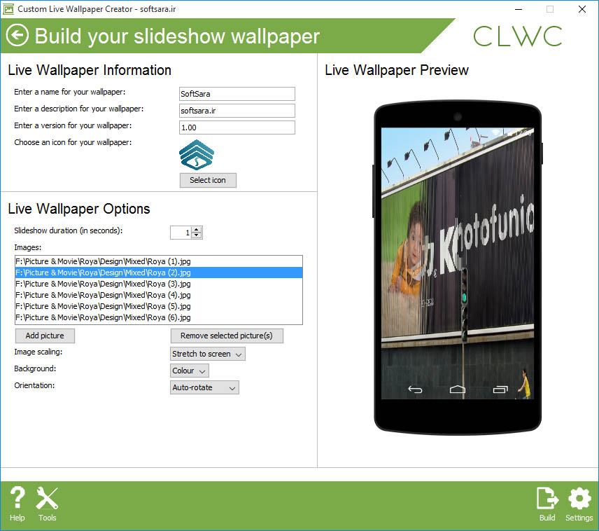دانلود Custom Live Wallpaper Creator