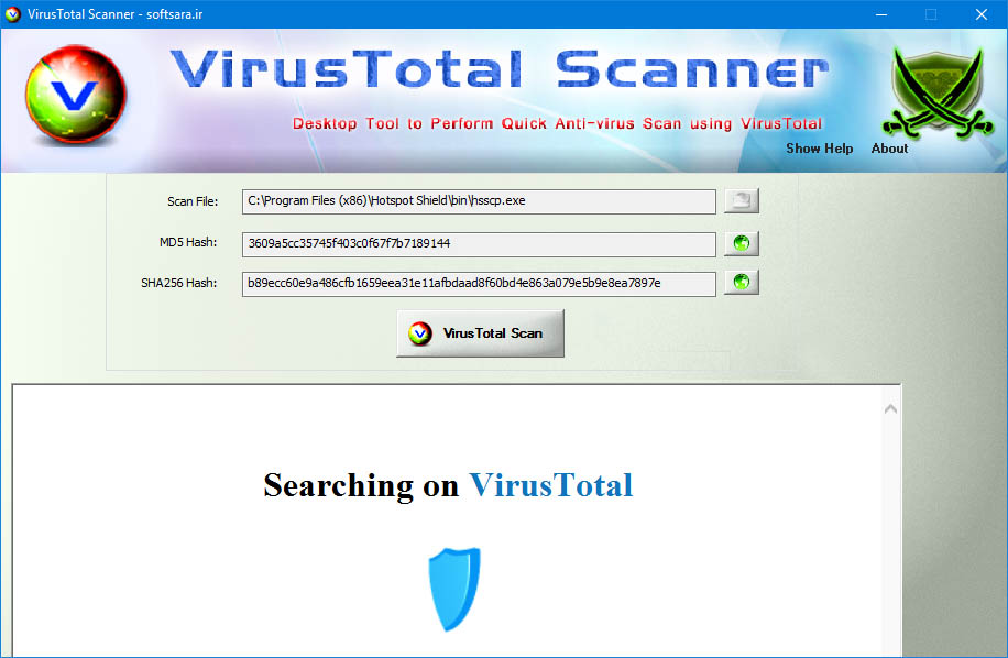 دانلود نرم افزار VirusTotalScanner