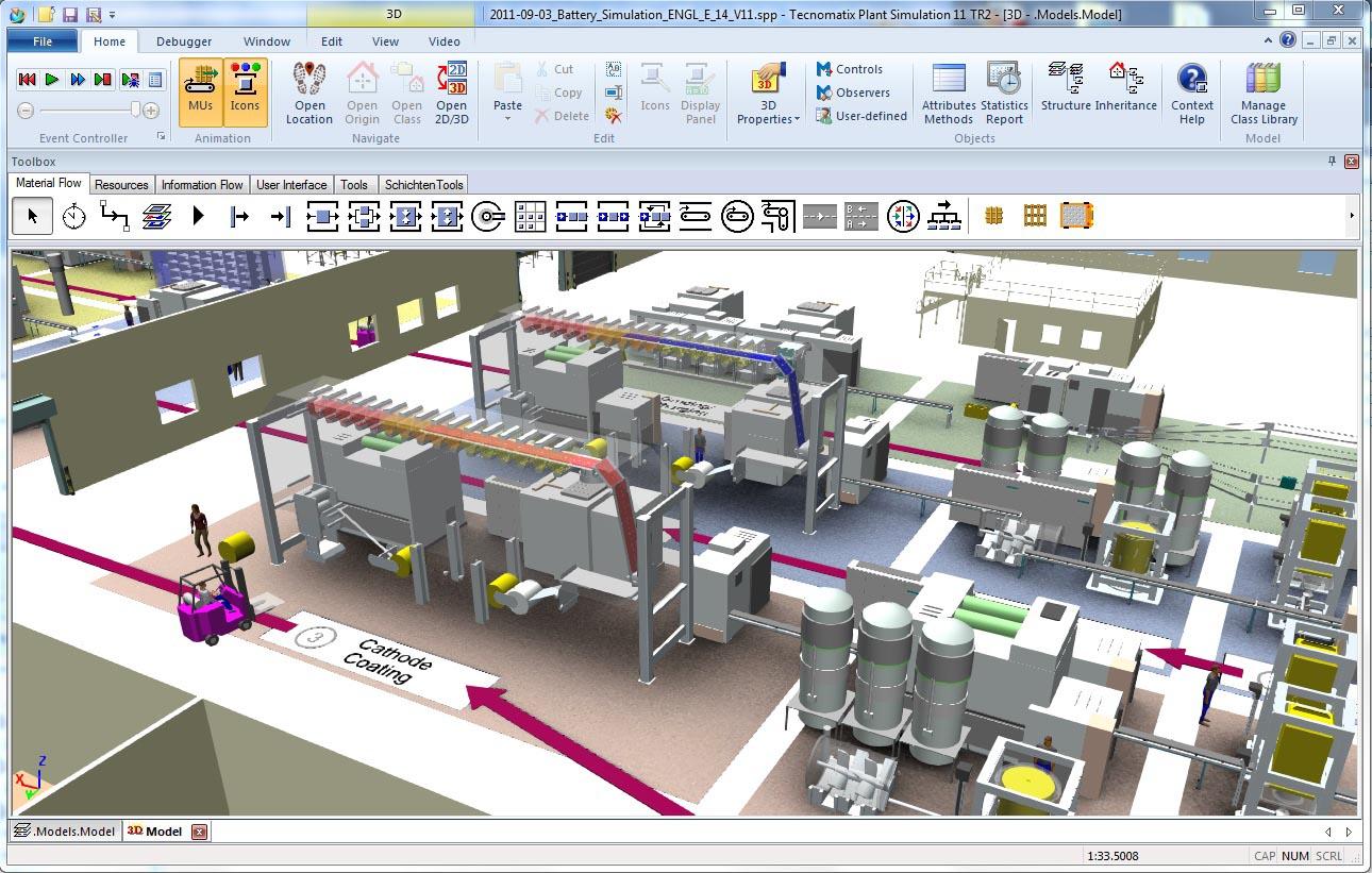 دانلود نرم افزار Siemens Tecnomatix Plant Simulation