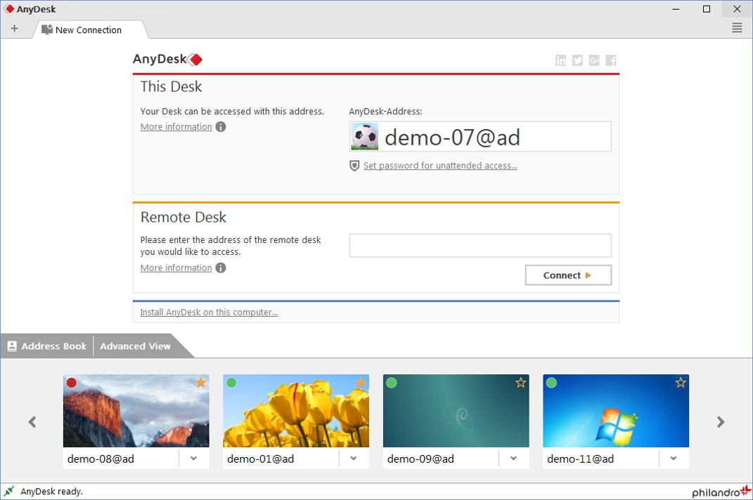 دانلود نرم افزار AnyDesk