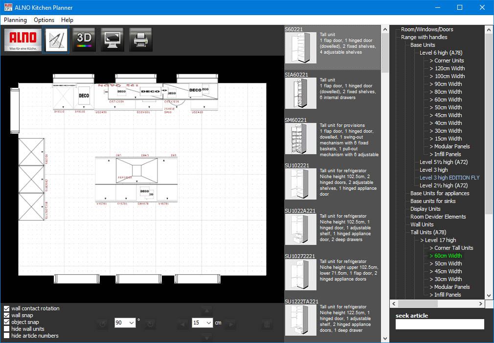 دانلود نرم افزار ALNO Kitchen Planner